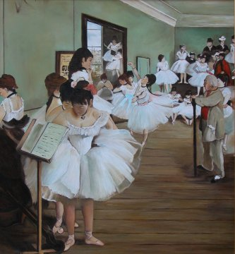 Edgar Degas - Examination of dance