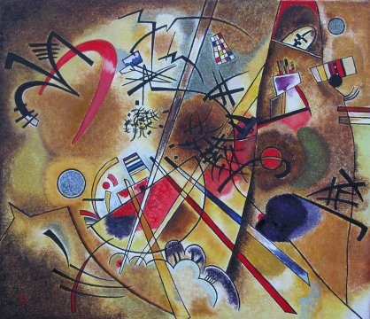 Wassily Kandinsky - Little dream in red