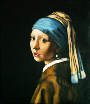 Johannes Vermeer - Girl with turban or Girl with pearl earring